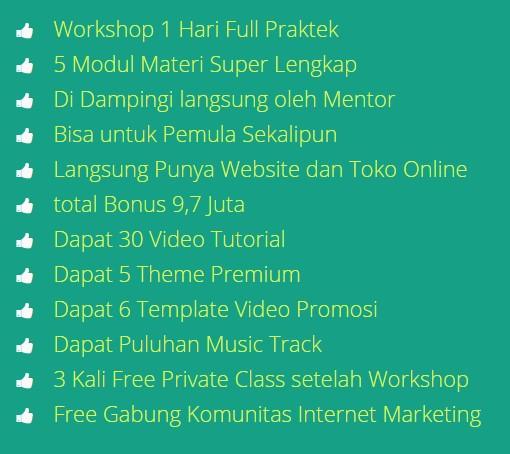 workshop internet marketing dan bisnis online di bogor