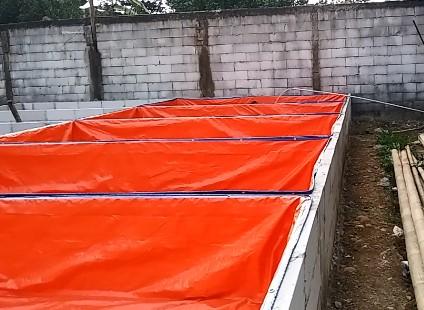Biaya pembuatan kolam terpal dan kolam semen atau beton